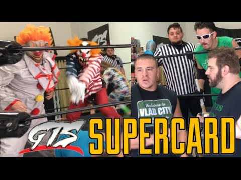 SHOCKING RETURN! CHAMPIONSHIP MATCH INVADED BY CRAZY CLOWNS! GTS WRESTLING SUPERCARD EVENT!