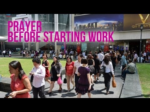prayer before starting work That is, the teaching church sets before us how we ought to pray drawing from  the  move in me, holy spirit, that my work, too, may be holy attract my heart.