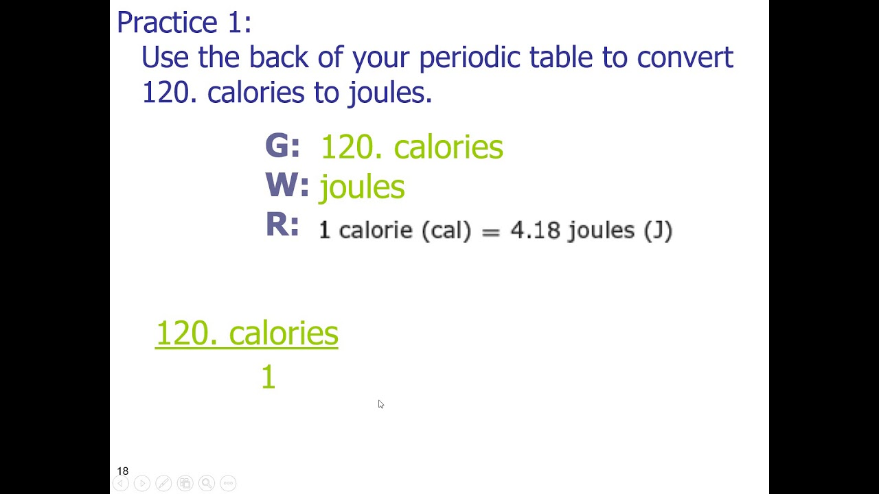 convert 120 calories to joules