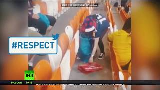 #Respect: Japan & Senegal fans clean stadium after their teams' World Cup matches