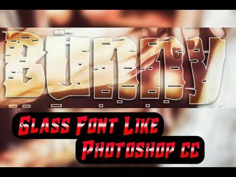 Make Gradient Glass Font Like Ps cc/cs6 in Android | How to Make Glass Font | Glass Font Photoshop