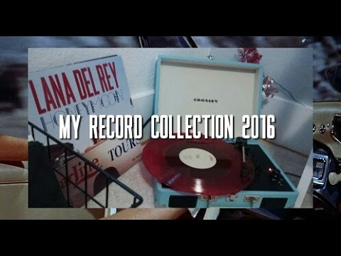 MY RECORD COLLECTION 2016 (LANA DEL REY, MARINA AND THE DIAMONDS, HALSEY, AND MORE!)