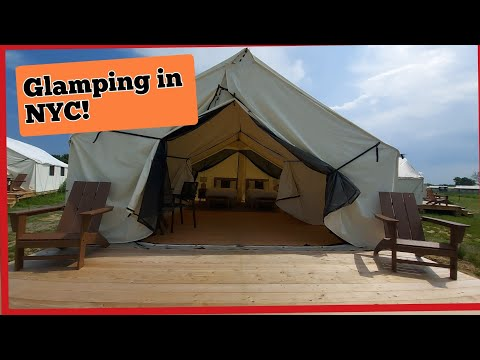 #Glamping en NYC.I stayed here for the night.  Me quede aqui.Collective Retreats Governors Island.