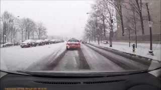 雪のペンシルバニア通り