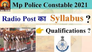 Mp Police Constable Radio Post Syllbus , education qualification   by Arun Patel   gyan shala screenshot 1