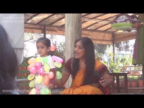 Kavil Participates in Fancy Dress Competition Baloon Seller at Crescent Pre Primary School Ahmedabad