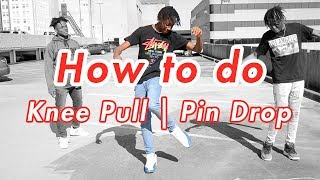 How to Pin Drop  Knee Pull  Double Step Back (Dance Tutorial)