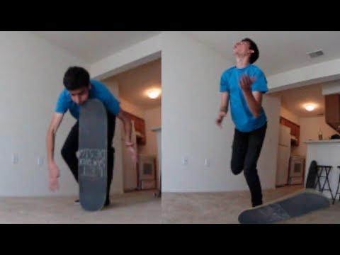 Carpet Skateboard TO THE FACE!