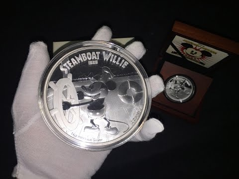 1 Kilo & 1 oz Steamboat Willie - Mickey Mouse Silver Coins