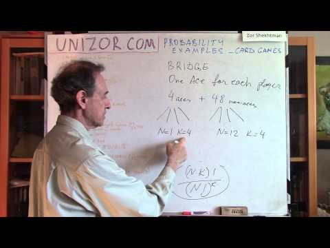 Unizor - Probability Examples - Card Games