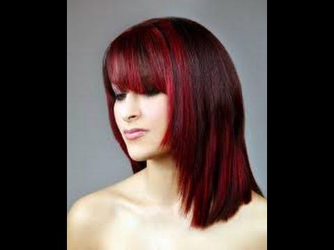 Как на черные волосы сделать красные пряди на 862