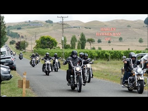 Hawkes Bay Harley meeting up with Brotherhood & heading to One night stand watermark