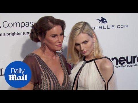 Caitlyn Jenner & Andreja Pejic Arrive At Elton John Oscars Bash - Daily Mail