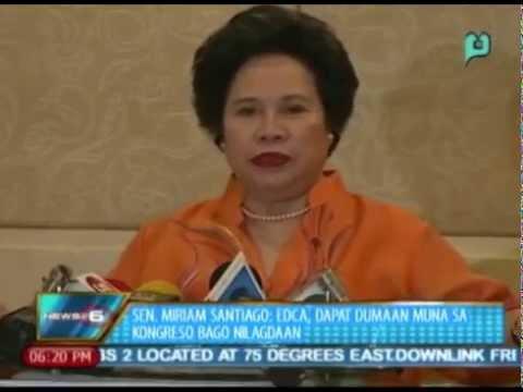 Sen. Santiago: Enhanced Defense Coop. Agreement, dapat dumaan muna sa kongreso bago nilagdaan