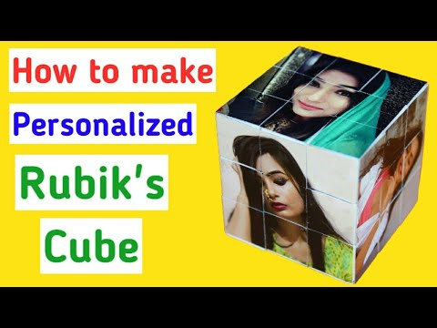 DIY Customize Photo Cube | Rubik's Photo Cube | Friendship Day Gift Ideas |
