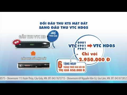 Đổi đầu thu VTC cũ lấy đầu thu mới