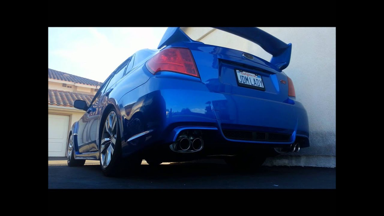 2013 Subaru Sedan WRX STI Stock vs Invidia Dual N1 Catback ...