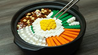Lego Bibimbap - Lego In Real Life 15 / Stop Motion Cooking & ASMR