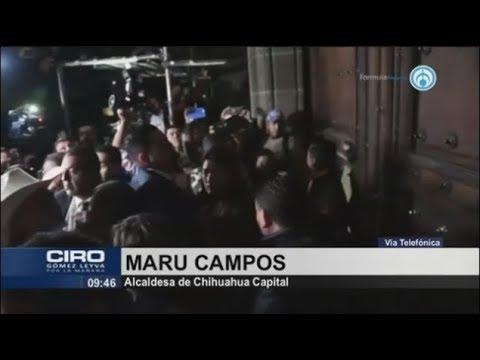 """Alcaldes del país se manifiestan en Palacio Nacional; """"nos aventaron gas lacrimógeno"""""""