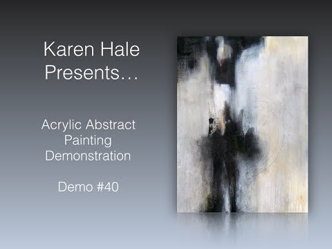 Acrylic Abstract Paintng /Abstract Painting/Demonstration /Brush