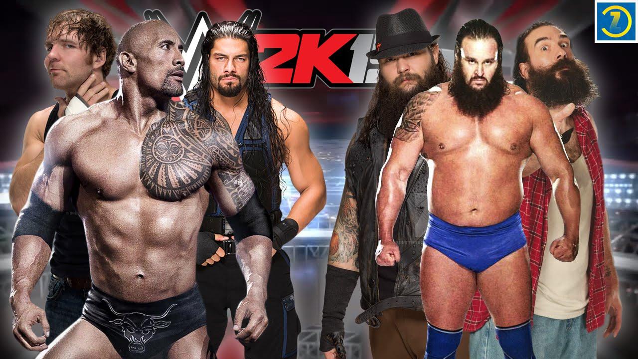 Dean Ambrose & Roman Reigns VS Wyatt Family | Third Member The Rock | WWE  2K15 #71