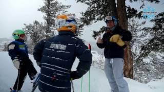 How to ski the powder progression