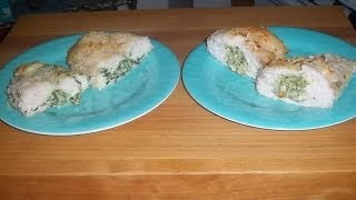 Stuffed Chicken Breasts Cooked In The Toaster Oven