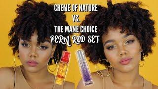creme of nature vs the mane choice perm rod set