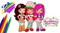 Strawberry Shortcake Cara Menggambar Mewarnai Gambar Kartun Anak