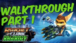 Ratchet & Clank: Full Frontal Assault Part 1 Solo Walkthrough No Commentary