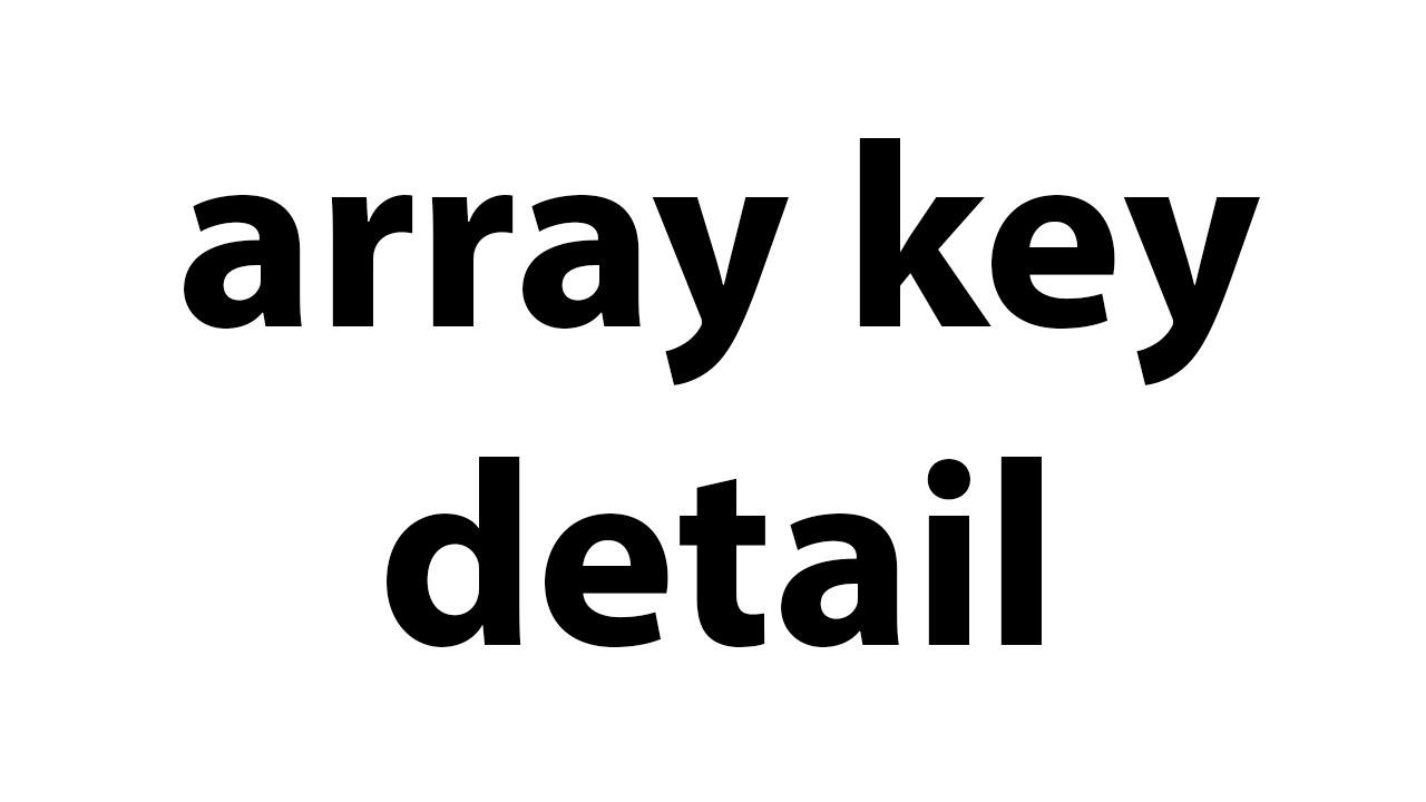array key detail   php bangla video tutorial