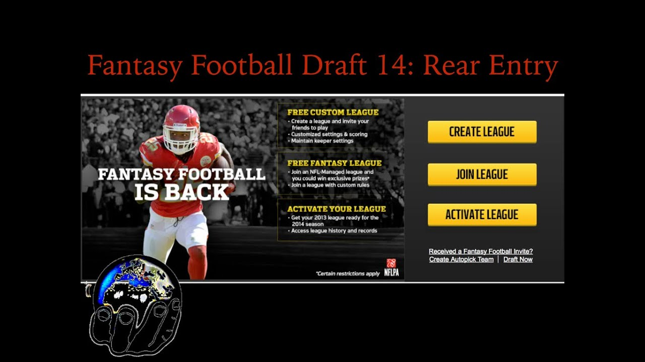 Nfl Fantasy Football League Name Rear Entry Live Draft Recap