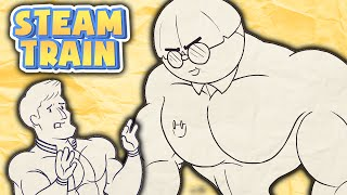 Steam Train Animated - Dinkles the Buff Nerd - by Rubberninja