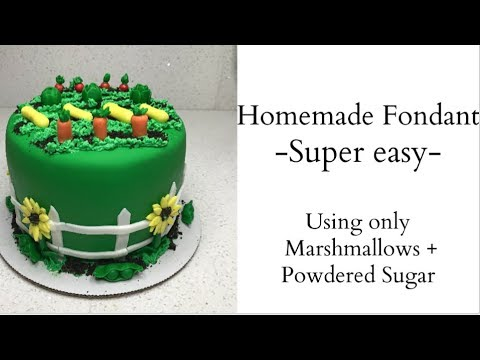 How to make fondant out of marshmallows and powdered sugar