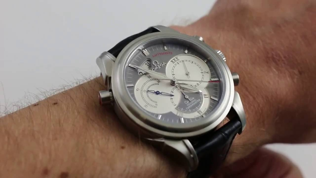 6a5e592f29e51 Omega Deville Co Axial Rattrapante 4848.40.31 Luxury Watch Review ...