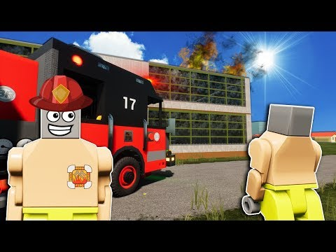 LEGO FIRE FIGHTERS SAVE NOTHING IN LEGO CITY! - Brick Rigs Roleplay Gameplay - Lego Movie