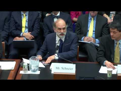 Bruce Schneier before US House Committee of Energy and Commerce