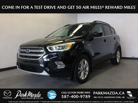 BLACK 2017 Ford Escape Review Sherwood Park Alberta - Park Mazda