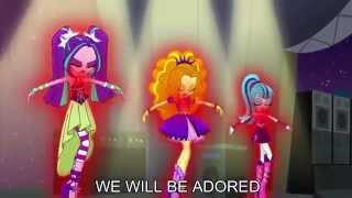 Welcome to the Show [With Lyrics] - My Little Pony Equestria Girls Rainbow Rocks Song thumbnail