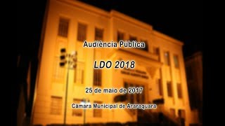 Audiência Pública - LDO 2018