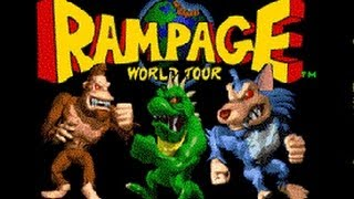 Classic Arcade Game Rampage World Tour on PS3 in HD 1080p