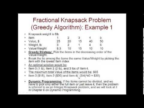Solving knapsack problem using greedy method youtube.