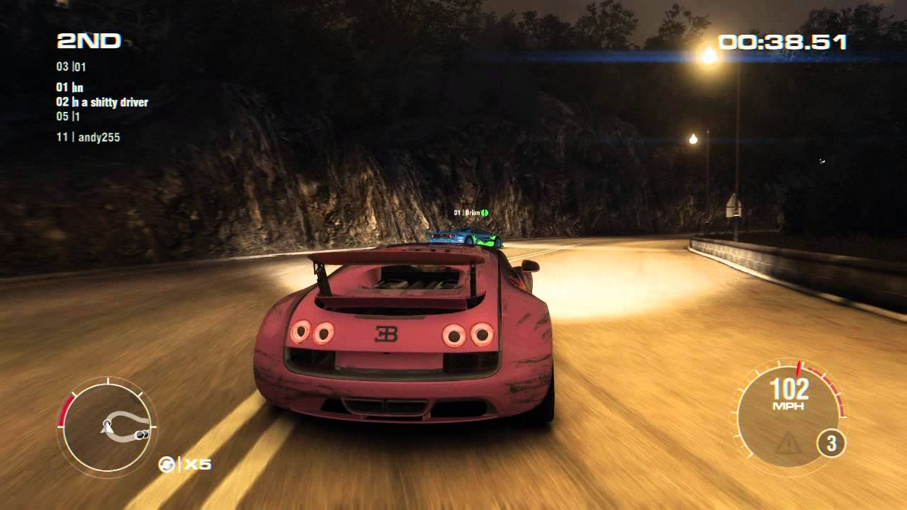 GRID 2 PC Multiplayer Race Gameplay: Tier 4 Fully Upgraded Bugatti