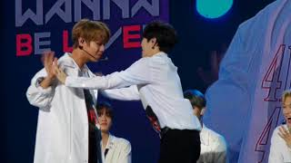 Video 180119 Jihoon and sungwoon hand pushing game WANNA ONE IN KL FANMEET download MP3, 3GP, MP4, WEBM, AVI, FLV Agustus 2018