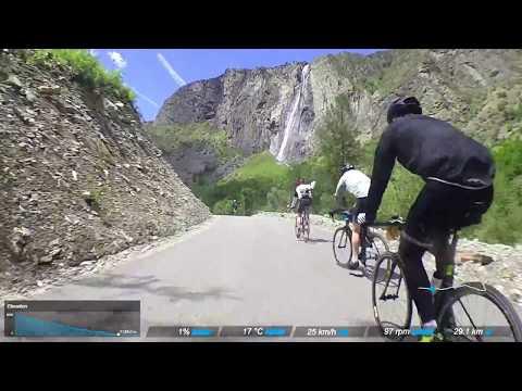 Road bike climbs: Col du Galibier, France (descent to Le Freney d'Oisans) - Marmotte Gran Fondo 2017