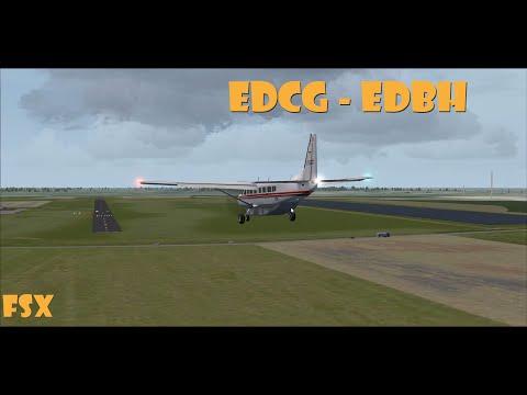 Cessna C208B Grand Caravan | Rügen to Stralsund Barth | Time Lapse