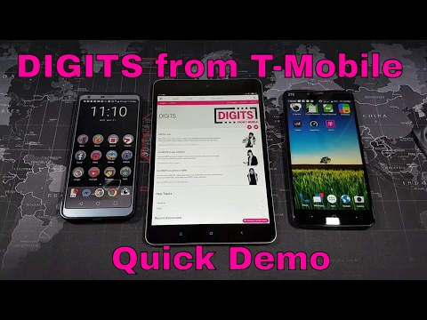 DIGITS from T-Mobile - Quick Explanation and Demo