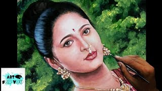 Devasena speed painting | Devasena time lapse painting | Speed portrait |