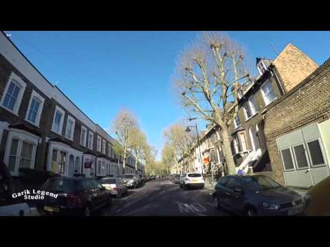 Driving in Britain. Aldgate East, Whitechapel,Mile End, A12 to Chigwell Virgin Active Gym.