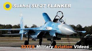 Ukrainian SU27 FLANKER Engine Startup, Takeoff, Landing at Kleine Brogel AB (EBBL)